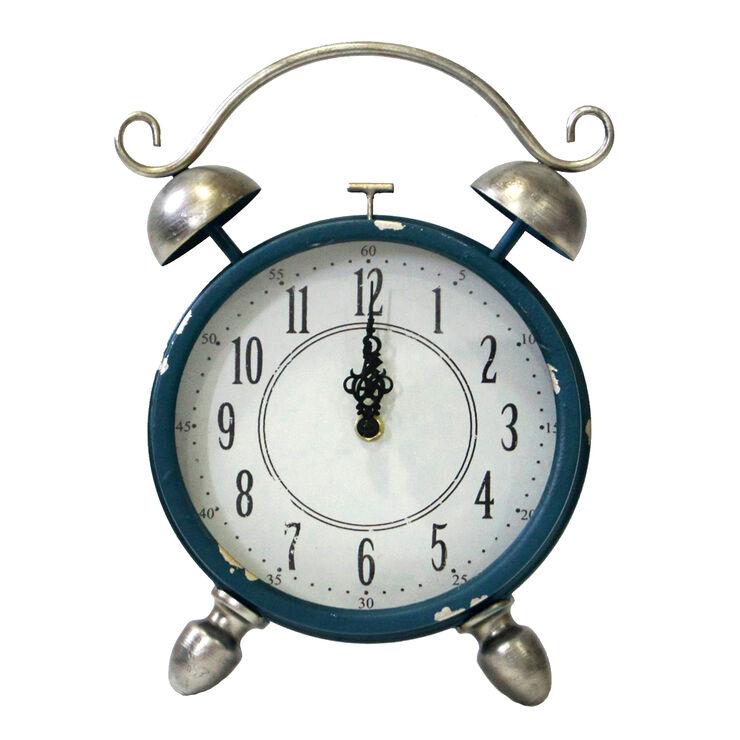 Blue Metal Alarm Clock - 12 in.