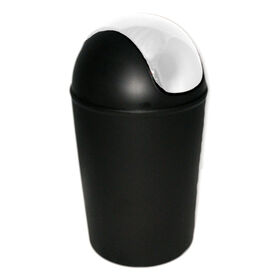 Picture of 11 Quart Swing Bin with Chrome Lid - Black