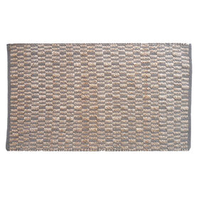 Picture of B298 Beige and Natural Jute Block Rug- 3x5 ft