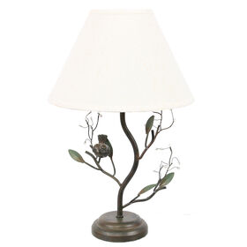 Picture of Bird & Berries Table Lamp, 19-in