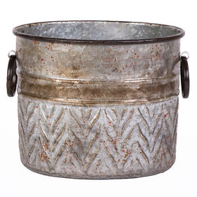 Picture of 11-in. Metal Oval Galvanized Planter