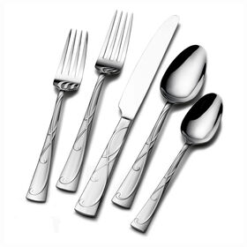 Picture of Gourmet Basics by Mikasa Blossom 20 Piece Flatware Set