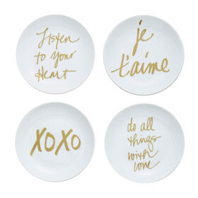 Picture of XOXO Plates 6-in- Set of 4