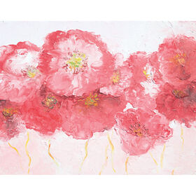 Picture of Dancing Poppies Art- 22x28 in.