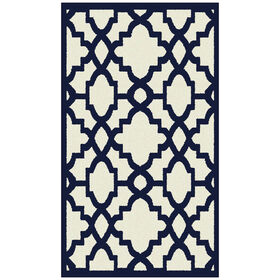Picture of Ivory and Indigo Athens Accent Rug 30 X 46-in