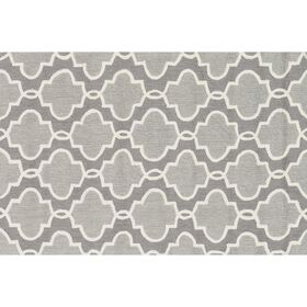 Picture of Layla Gray Grid Accent Rug 27 X 45-in