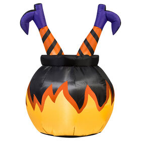 Picture of 4ft Witch Legs in Cauldron Inflatable