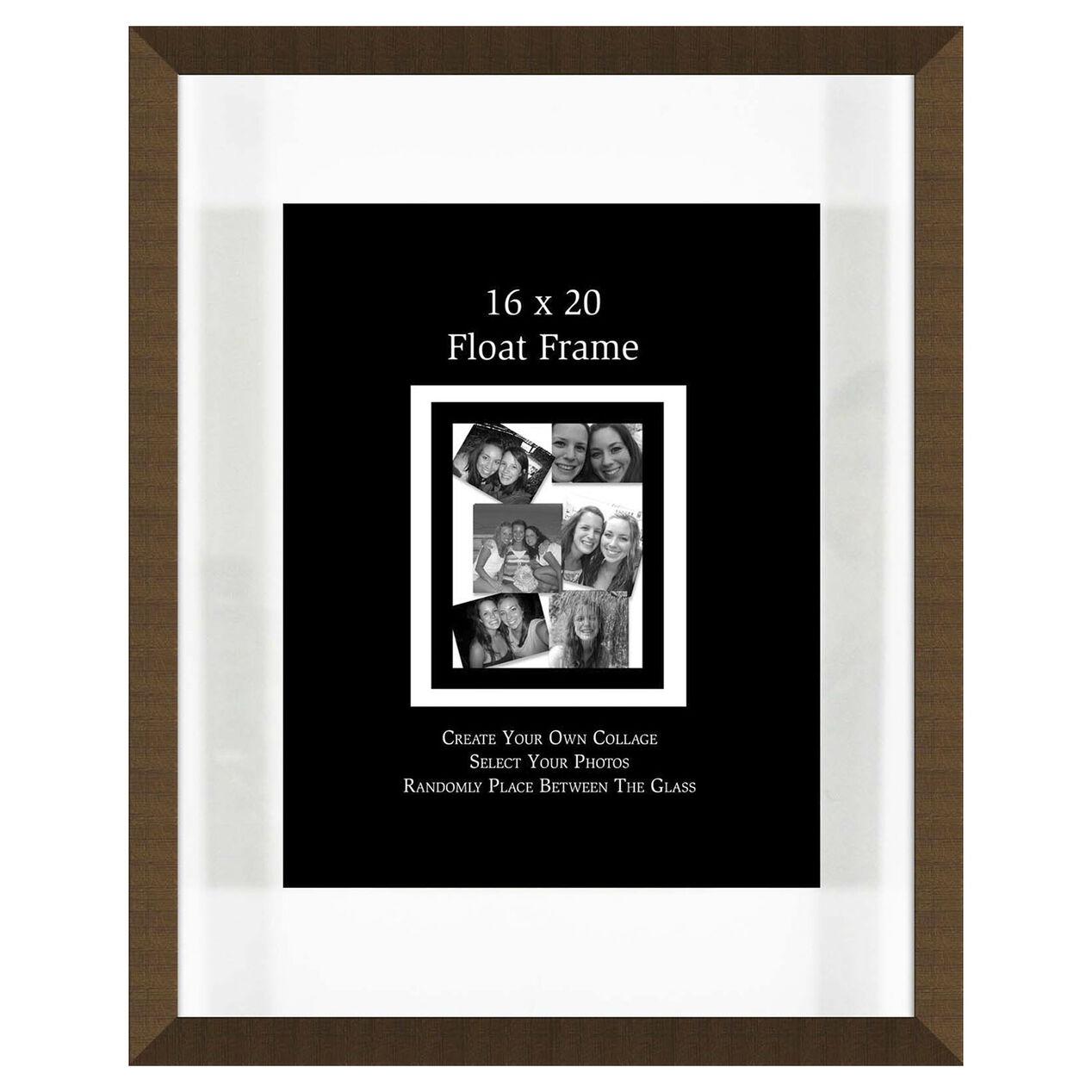 16 x 20 in gold float frame at home. Black Bedroom Furniture Sets. Home Design Ideas