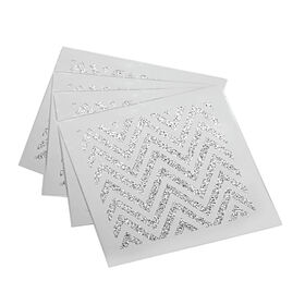 Picture of Zig Zag Silver Coasters, Set of 4