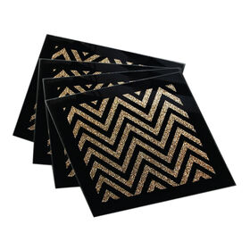 Picture of Zig Zag Gold Coasters, Set of 4