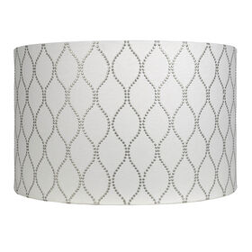 Picture of White Drum Shade with Studs, 16x10