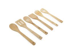 6 Piece Bamboo Utensil Set