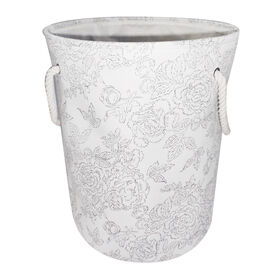 Picture of FABRIC HAMPER-ETCH FLORAL