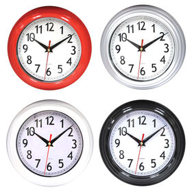 Picture of 8-in Classic Red, White, Silver & Black Clock, Assorted  (sold separately)