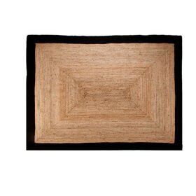 Picture of Jute Braided Rug with Black Border, 7 x 10