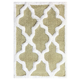 Picture of QTRFOIL 2PC BATH RUG WH/SAGE