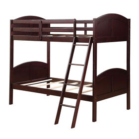 Picture of Dark Wood Twin Bunk Bed Set