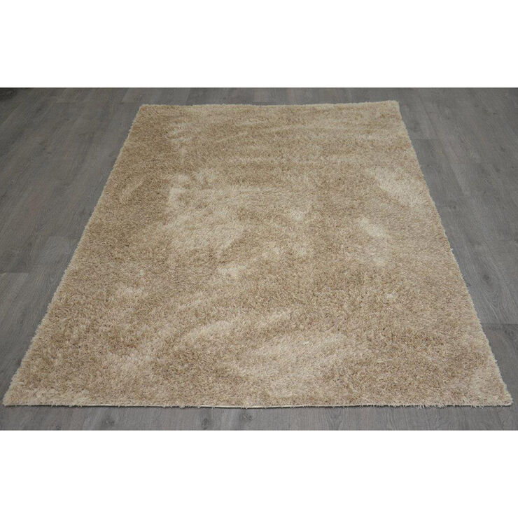 C74 Taupe Shag Rug- 7x10 ft