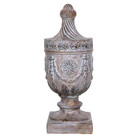 Picture of Wood Look Decorative Urn Finial 22-in