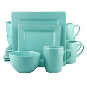 Picture of 16 PC SQ DINNERWARE SET TURQ