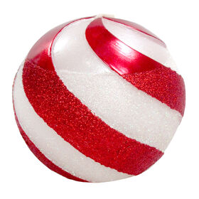 Picture of Candy Cane Striped Sphere 4-in
