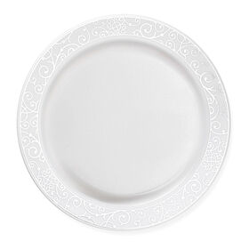 Picture of 7.25- Venetian White and Silver Side Plates - set of 10