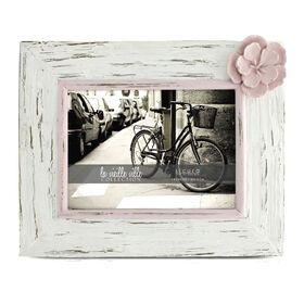 Picture of 5 X 7-in Distressed Pink and White Flower Charlotte Frame