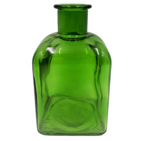Picture of Green Glass Square Bottle- 6 in.
