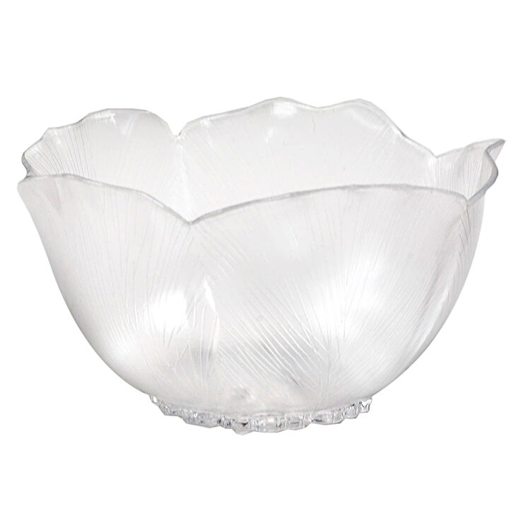 7in Hibiscus Bowl, Clear