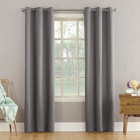 Picture of Gray Talita Room Darkening Window Curtain Panel 84-in