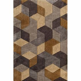 Picture of A229 Gold and Grey Calmar Rug