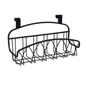 Picture of Over-the-Cabinet-Door Small Twist Wire Basket, Black
