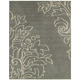 Picture of Grey Monaco Leaves Rug