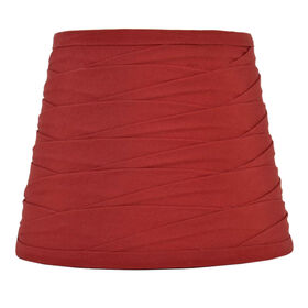 Picture of Red Pleated Lamp Shade 12 X 14 X 10-in