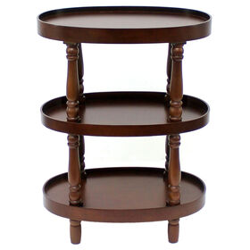 Picture of BRWN 3TIER OVAL TABLE WD 33H