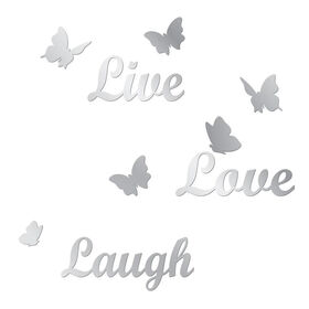 Picture of 10 X 15-in Live Laugh Love Butterfly Mirror