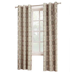 Picture of Calico Pattern Linen Window Curtain Panel