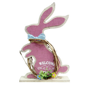 Picture of 15  MDF BUNNY ON BASE PINK