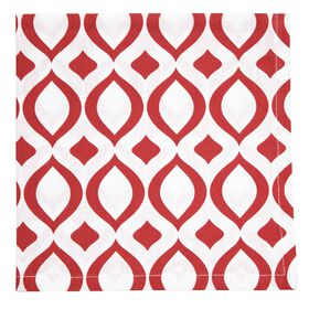 Picture of Red Geometric Print Napkins