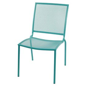 Picture of Armless Wrought Iron Stake Chair - Teal