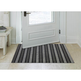 Picture of Grey Carlisle Indoor and Outdoor Mat- 20x36 in.