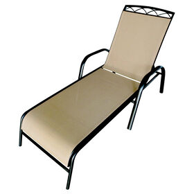 Picture of Sling Chaise with Header - Tan
