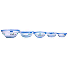Picture of 5 Piece Glass Storage Set - Blue