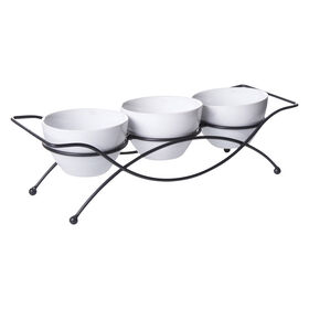 Picture of  3 TIDBIT BOWLS WITH RACK