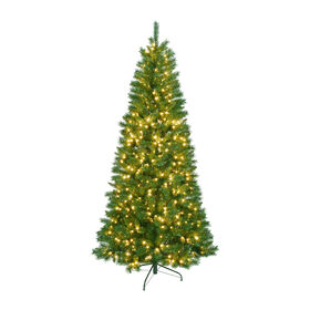 Picture of C12 7.5-ft Pre-lit Emmerson Spruce Tree with 600 Clear Lights