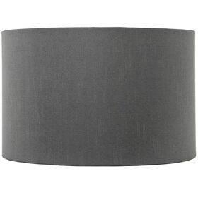 Picture of Round Gray Table Lampshade - 15 X 15 X 9