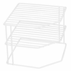 Picture of WIRE 3 TIER CORNER SHELF-WHTE