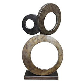 Picture of Silver Metal Circles on Stand- 22-in