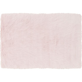 Picture of Pink Faux Fur Danso Rug- 2x3 ft