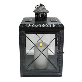 Picture of Metal Rectangular Lantern- 13.5-in